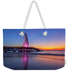 Weekender Tote Bag featuring the photograph Puesta De Sol En La Playa De Los Murtos by Edward Kreis