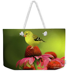Puff Ball Of A Goldfinch  Weekender Tote Bag