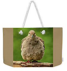 Puffed Dove Weekender Tote Bag
