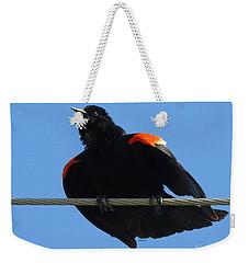 Puffed Up Singer Weekender Tote Bag