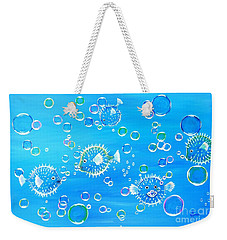 Pufferfish Playtime Weekender Tote Bag