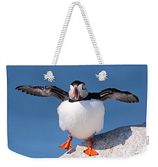 Puffin Dance Weekender Tote Bag