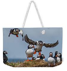 Puffins Weekender Tote Bag