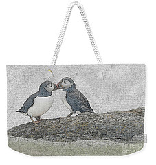 Puffins Kissing Weekender Tote Bag