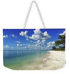 Puffy White Clouds At Delnor-wiggins Weekender Tote Bag