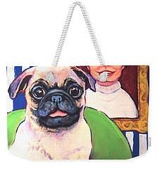 Pug - Beth Ann And Butch Weekender Tote Bag by Rebecca Korpita