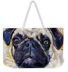 Pug Mug Weekender Tote Bag by Molly Poole