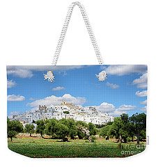 Puglia White City Ostuni With Olive Trees Weekender Tote Bag