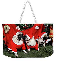 Pugs Dressed As Father-christmas Weekender Tote Bag