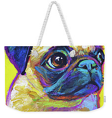 Pugsly, A Closer Look Weekender Tote Bag by Robert Phelps