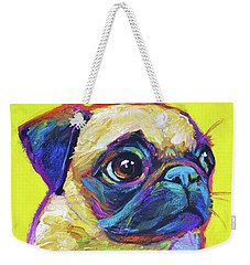 Pugsly Weekender Tote Bag by Robert Phelps