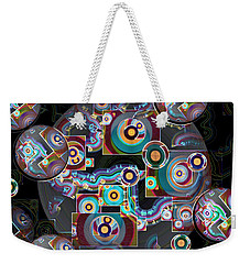 Weekender Tote Bag featuring the digital art Pulse Of The Motherboard by Lynda Lehmann