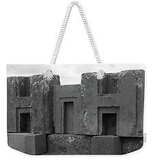 Puma Punku H Blocks, Bolivia Weekender Tote Bag