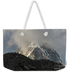 Weekender Tote Bag featuring the photograph Pumori Dusk Light by Mike Reid