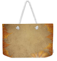 Pumpkin And Maple Leaves Weekender Tote Bag