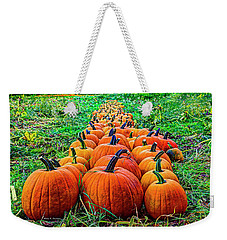 Pumpkin Patch Weekender Tote Bag by Dale R Carlson