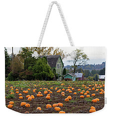 Pumpkin Patch By Farm House In Oregon Weekender Tote Bag