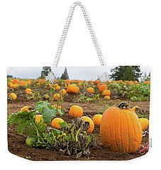 Pumpkin Patch Weekender Tote Bag by Jit Lim