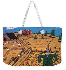 Pumpkin Patch Scarecrow Weekender Tote Bag