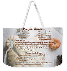 Pumpkin Scones Recipe Weekender Tote Bag