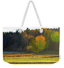 Pumpkin Sunset Weekender Tote Bag