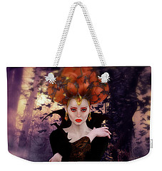 Weekender Tote Bag featuring the digital art Pumpkin Witch by Shanina Conway