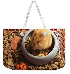 Pumpkin With Pumpkin Weekender Tote Bag by Denise Fulmer
