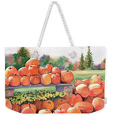 Pumpkins For Sale Weekender Tote Bag by Vikki Bouffard