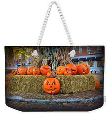 Pumpkins In Market Square Weekender Tote Bag