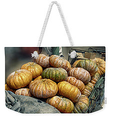 Pumpkins In The Cart  Weekender Tote Bag by Charuhas Images