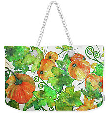 Pumpkins Weekender Tote Bag by Janet Immordino
