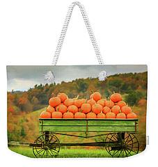 Pumpkins On A Wagon Weekender Tote Bag