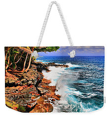 Weekender Tote Bag featuring the photograph Puna Coast Hawaii by DJ Florek