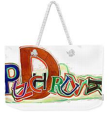 Punch Drunk On Poyo - Sierra Leone - Tee Shirt Art Weekender Tote Bag by Mudiama Kammoh