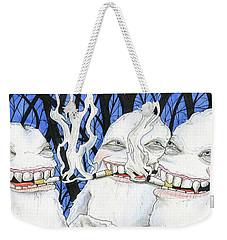 Punch Line Weekender Tote Bag