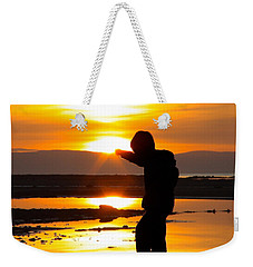 Punching The Sun Weekender Tote Bag