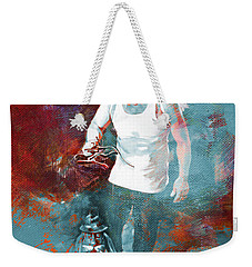Weekender Tote Bag featuring the painting Puppet Man 003 by Gull G