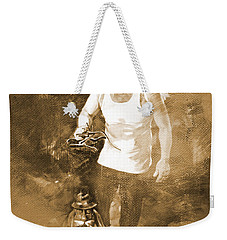 Weekender Tote Bag featuring the painting Puppet Show by Gull G