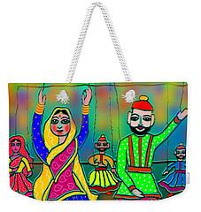 Weekender Tote Bag featuring the digital art Puppets by Latha Gokuldas Panicker