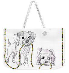 Puppies Greeting Card Weekender Tote Bag