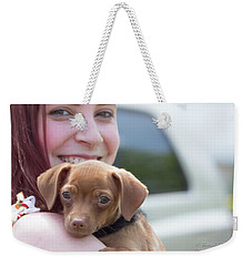 Puppy And Smiles Weekender Tote Bag