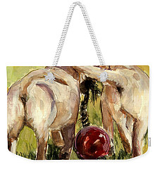 Puppy Butts Weekender Tote Bag by Molly Poole