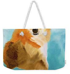Puppy Dog Eyes Weekender Tote Bag by Meryl Goudey
