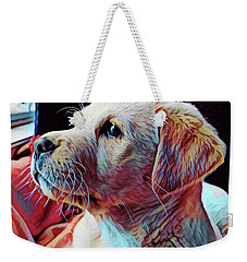 Puppy Dog Weekender Tote Bag by Gary Grayson