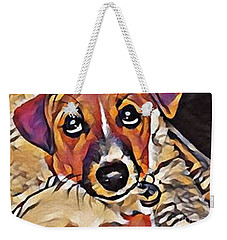 Puppy Eyes Weekender Tote Bag