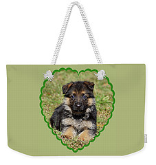 Weekender Tote Bag featuring the photograph Puppy In Heart by Sandy Keeton