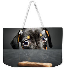 Puppy Longing For A Treat Weekender Tote Bag