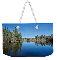 Weekender Tote Bag featuring the photograph Pure Blue Waters 1772 by Michael Peychich
