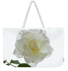 Pure White Rose Weekender Tote Bag by Terence Davis