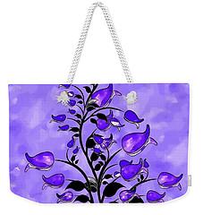 Purple Abstract Flowers Weekender Tote Bag